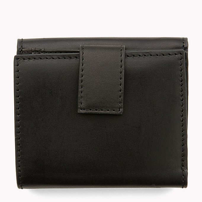 TOMMY HILFIGER Leather Trifold Flap Wallet - TOMMY NAVY - TOMMY HILFIGER Women - detail image 1