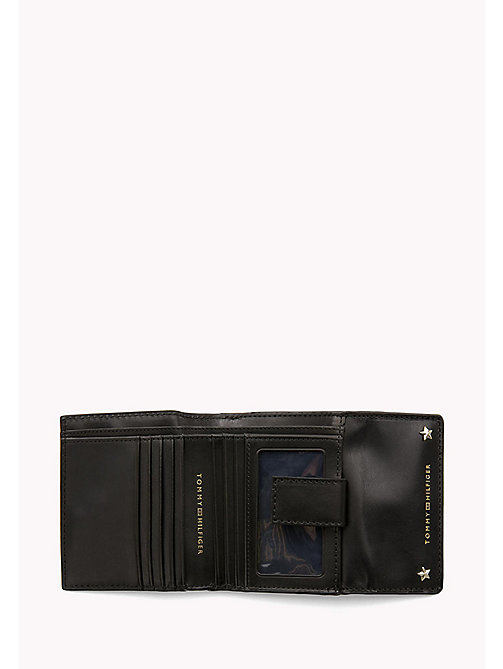 TOMMY HILFIGER Leather Trifold Flap Wallet - BLACK - TOMMY HILFIGER Wallets & Keyrings - detail image 1