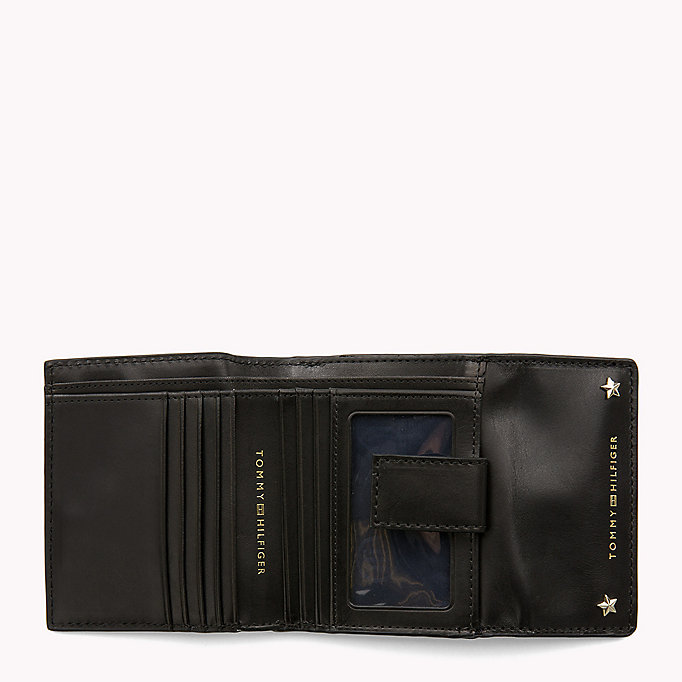 TOMMY HILFIGER Leather Trifold Flap Wallet - TOMMY NAVY - TOMMY HILFIGER Women - detail image 2