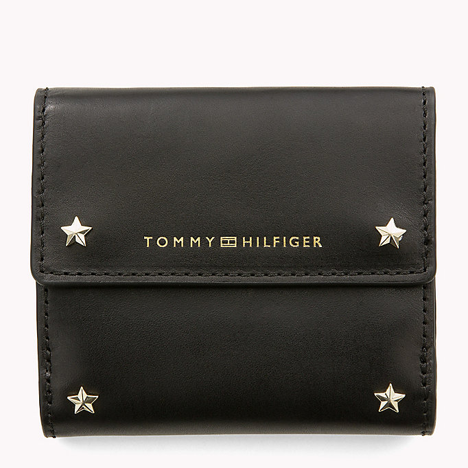 TOMMY HILFIGER Leather Trifold Flap Wallet - TOMMY NAVY - TOMMY HILFIGER Bags & Accessories - main image