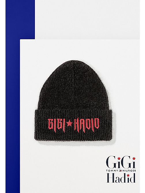 TOMMY HILFIGER Gigi Hadid Mohair Beanie - BLACK - TOMMY HILFIGER Bags & Accessories - main image