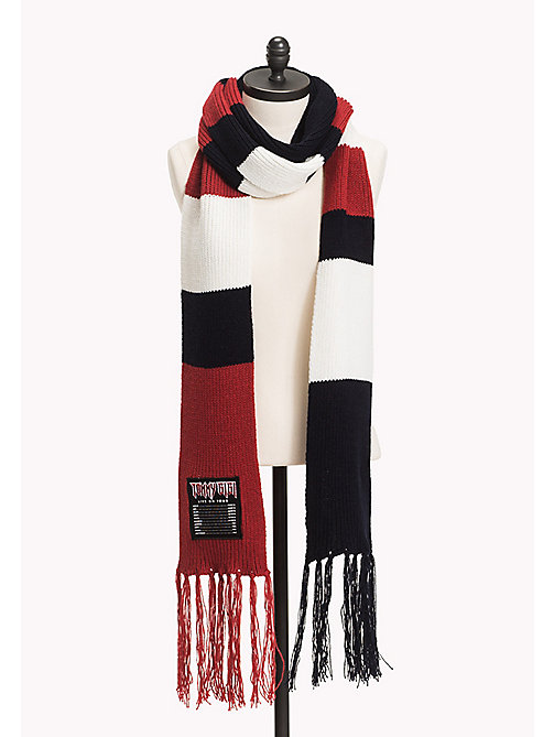 TOMMY HILFIGER Gigi Wool Blend Scarf - CORPORATE CLRS - TOMMY HILFIGER Test 4 - detail image 1