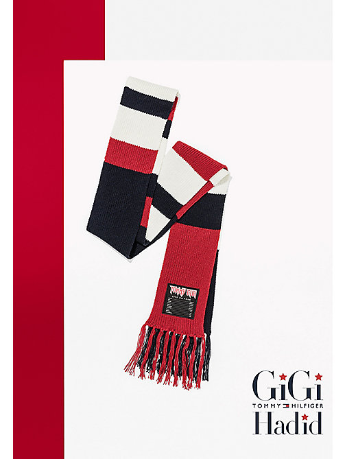 TOMMY HILFIGER Gigi Wool Blend Scarf - CORPORATE CLRS - TOMMY HILFIGER Test 4 - main image