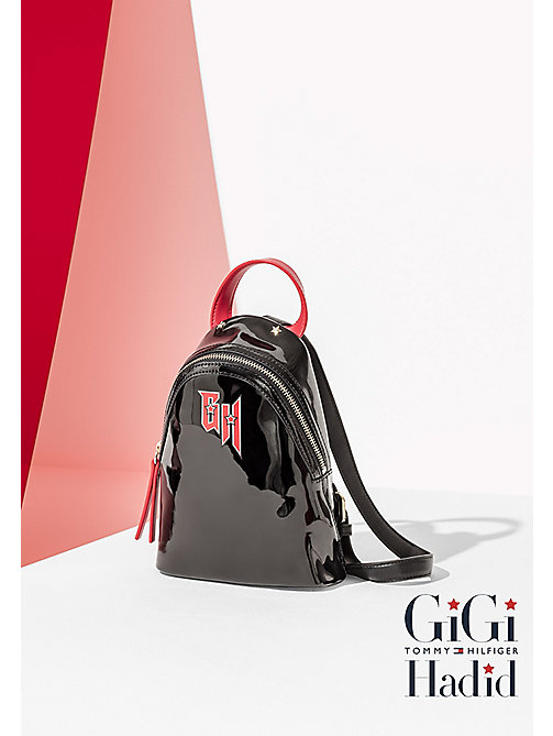 TOMMY HILFIGER GiGi Micro Backpack - BLACK RED - TOMMY HILFIGER Bags & Accessories - main image