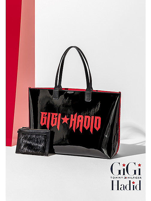 TOMMY HILFIGER Omkeerbare tote bag GiGi - BLACK/RED - TOMMY HILFIGER Test 4 - main image