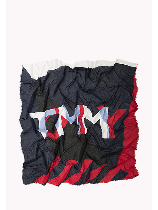 TOMMY HILFIGER Geometric Scarf - CORPORATE - TOMMY HILFIGER Hats, Gloves & Scarves - detail image 1