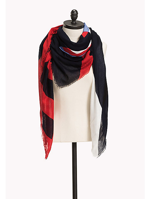 TOMMY HILFIGER Geometric Scarf - CORPORATE - TOMMY HILFIGER Hats, Gloves & Scarves - main image