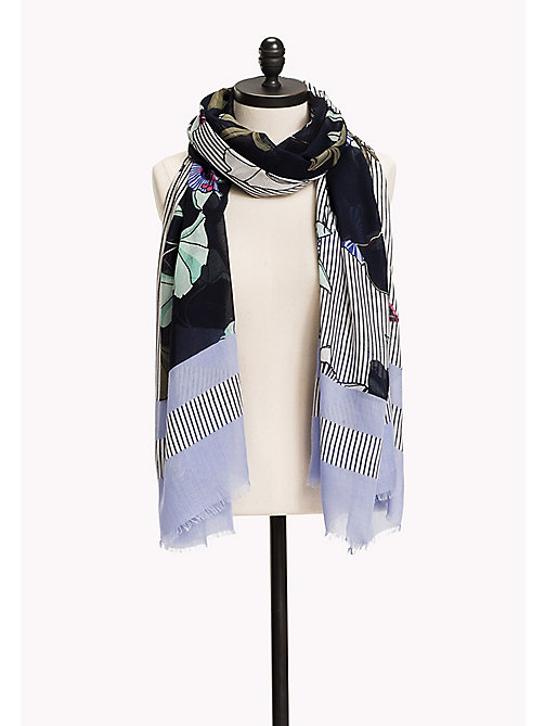 TOMMY HILFIGER Floral Scarf - SKY CAPTAIN - TOMMY HILFIGER Hats, Gloves & Scarves - main image