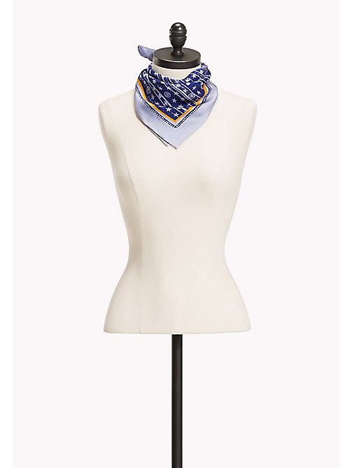 TOMMY HILFIGER Monogram Foulard Scarf - HEATHER - TOMMY HILFIGER Hats, Gloves & Scarves - main image