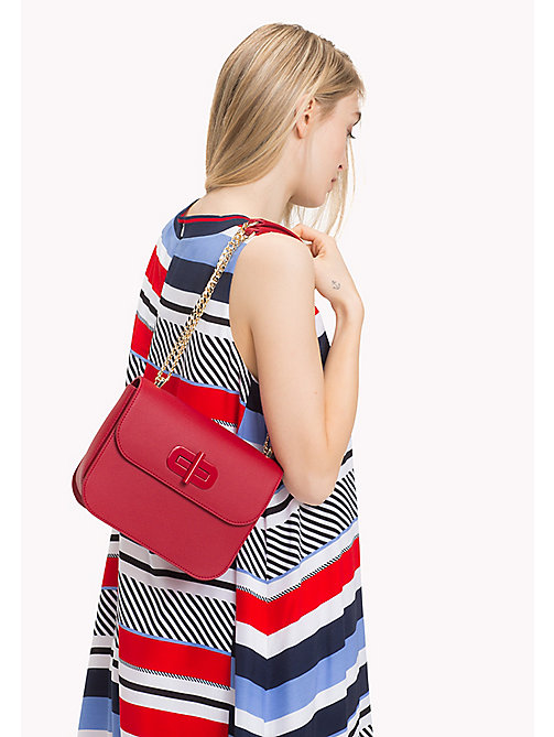 TOMMY HILFIGER Turn-Lock Crossover Bag - TOMMY RED - TOMMY HILFIGER Crossbody Bags - detail image 1