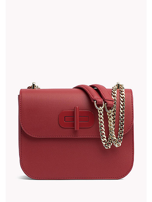 TOMMY HILFIGER Turn-Lock Crossover Bag - TOMMY RED - TOMMY HILFIGER Crossbody Bags - main image