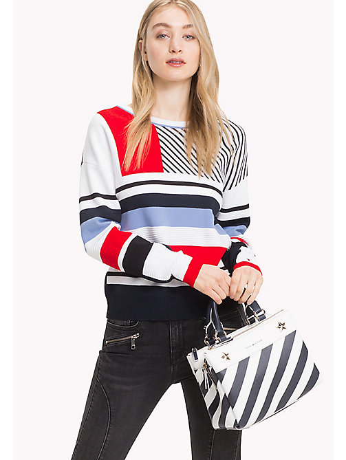 TOMMY HILFIGER Stripe Medium Satchel - STRIPE - TOMMY HILFIGER Bags & Accessories - detail image 1