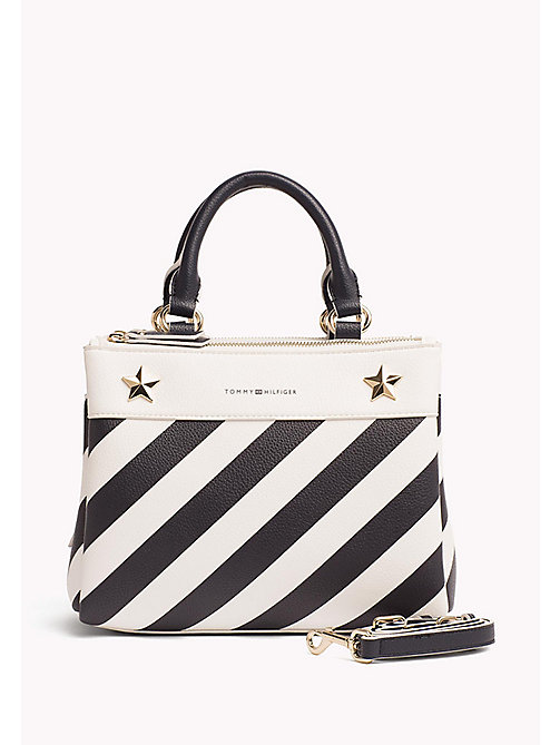 TOMMY HILFIGER Stripe Medium Satchel - STRIPE - TOMMY HILFIGER Satchel Bags - main image