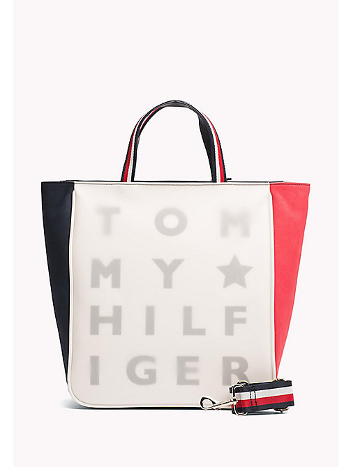 TOMMY HILFIGER Transparent Logo Tote Bag - CORPORATE CB - TOMMY HILFIGER Tote Bags - main image