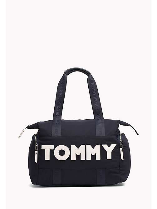 TOMMY HILFIGER Logo Tote Bag - TOMMY NAVY - TOMMY HILFIGER VACATION FOR HER - main image