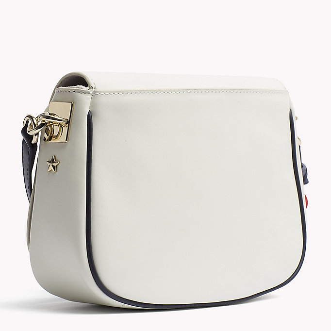 TOMMY HILFIGER Borsa a bisaccia in pelle con tracolla - TOMMY NAVY - TOMMY HILFIGER Donne - dettaglio immagine 1