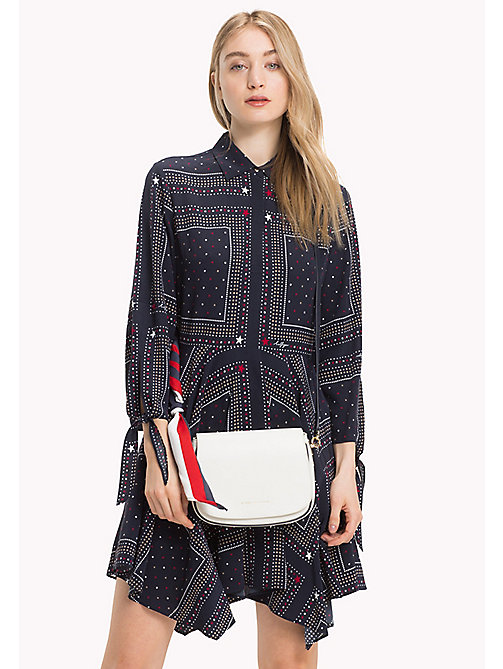TOMMY HILFIGER Statement Strap Leather Saddle Bag - BRIGHT WHITE - TOMMY HILFIGER Lista para la oficina - imagen detallada 1