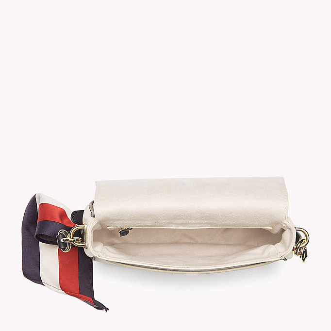 TOMMY HILFIGER Borsa a bisaccia in pelle con tracolla - TOMMY NAVY - TOMMY HILFIGER Donne - dettaglio immagine 2