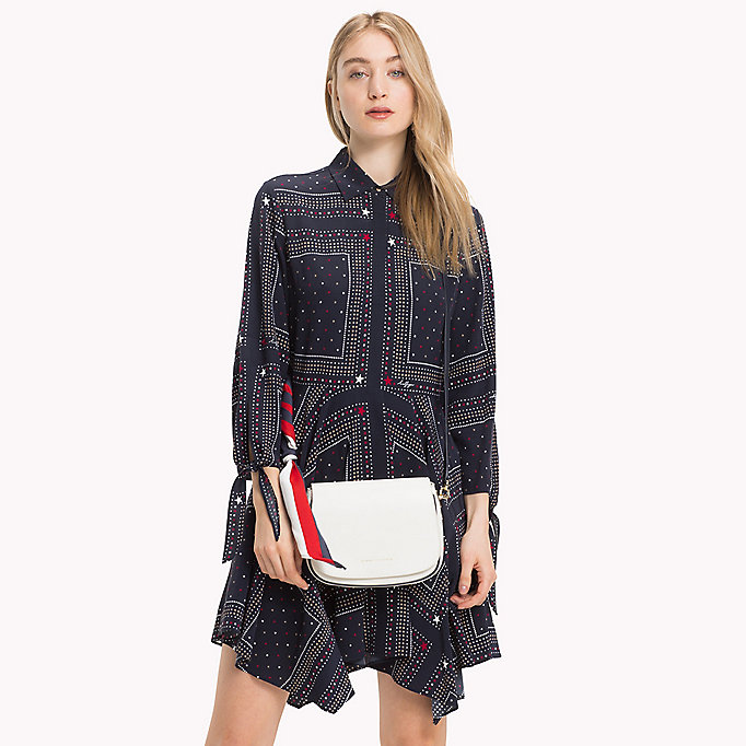 TOMMY HILFIGER Borsa a bisaccia in pelle con tracolla - TOMMY NAVY - TOMMY HILFIGER Donne - dettaglio immagine 3
