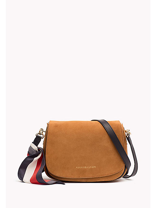 Scarf Strap Saddle Bag - COGNAC - TOMMY HILFIGER Bags & Accessories - main image