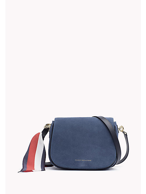 TOMMY HILFIGER Saddlebag met signature sjaal - DUTCH BLUE - TOMMY HILFIGER Crossbodytassen - main image