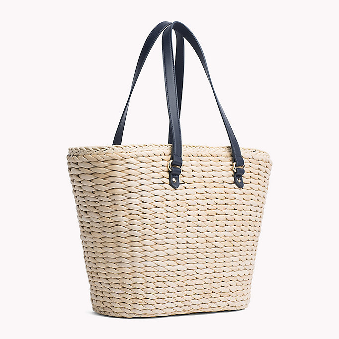 TOMMY HILFIGER Straw Tote Bag - CORPORATE CB - TOMMY HILFIGER Women - detail image 1