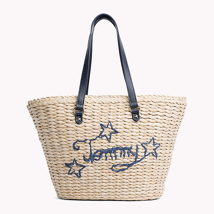 TOMMY HILFIGER Straw Tote Bag - CORPORATE CB - TOMMY HILFIGER Bags & Accessories - main image