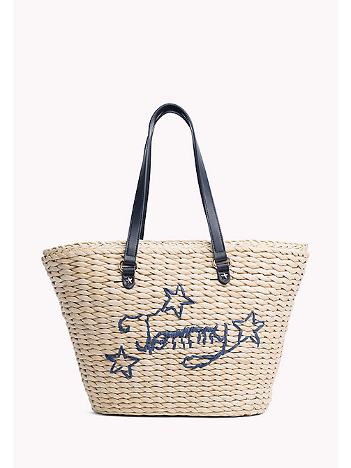 TOMMY HILFIGER Straw Tote Bag - NATURAL/ TBC - TOMMY HILFIGER VACATION FOR HER - main image