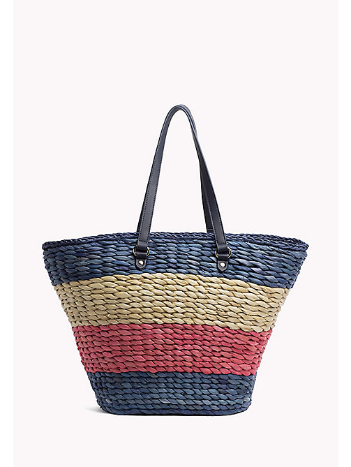 TOMMY HILFIGER Straw Tote Bag - CORPORATE CB - TOMMY HILFIGER Tote Bags - main image