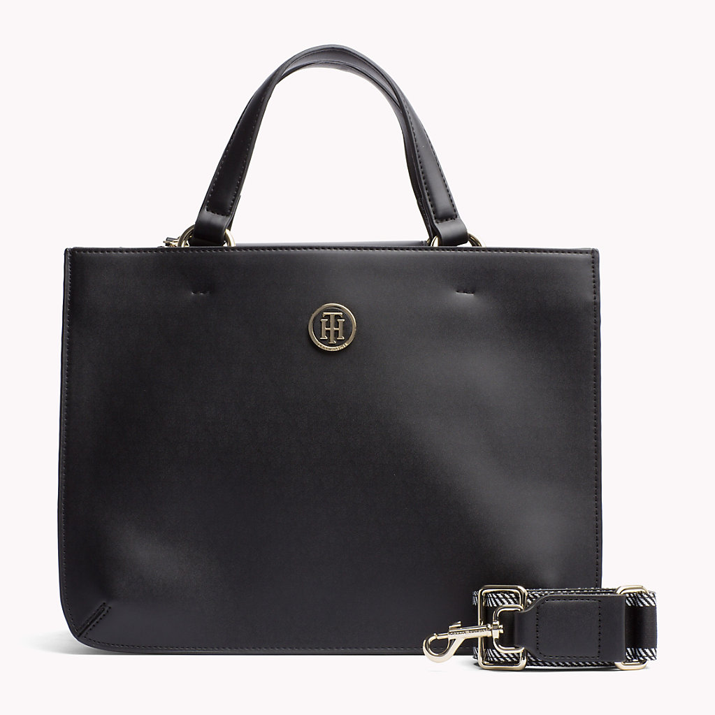 Colour Contrast Faux Leather Accordion Bag - Sales Up to -50% Tommy Hilfiger U74hrqY2r