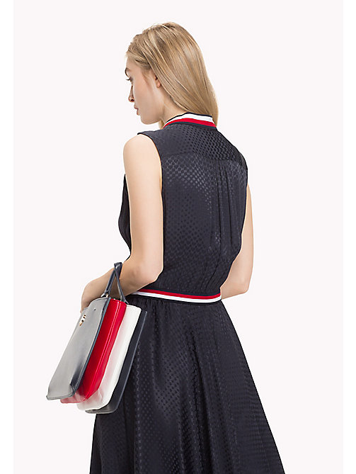 TOMMY HILFIGER Colour Contrast Faux Leather Accordion Bag - TOMMY NAVY - TOMMY HILFIGER Bags & Accessories - detail image 1
