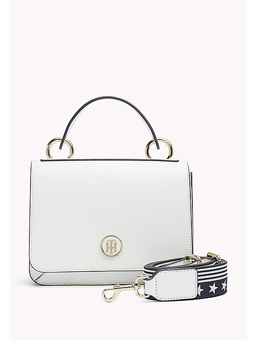 TOMMY HILFIGER Flap Cross Body Bag - BRIGHT WHITE - TOMMY HILFIGER Crossover Bags - main image