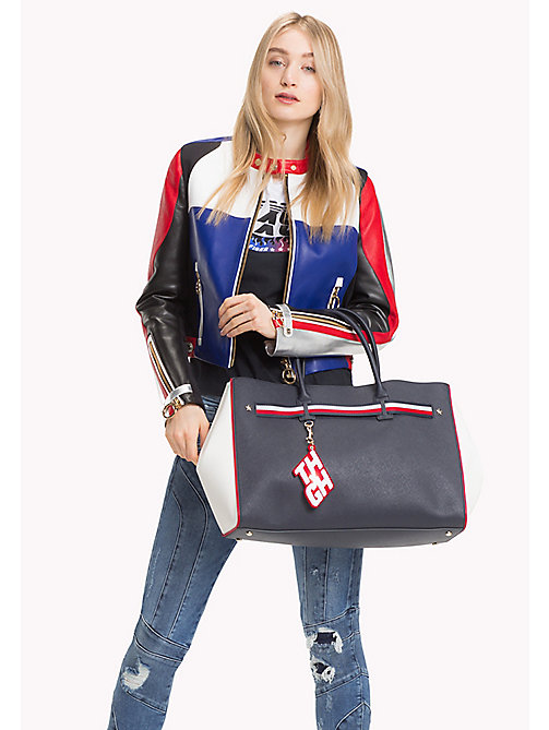 TOMMY HILFIGER Gigi Hadid Tote - TOMMY NAVY/ BRIGHT WHITE - TOMMY HILFIGER Bags & Accessories - detail image 1