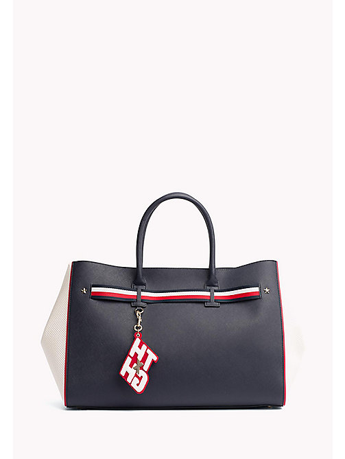 TOMMY HILFIGER Gigi Hadid Tote - TOMMY NAVY/ BRIGHT WHITE - TOMMY HILFIGER Bags & Accessories - main image