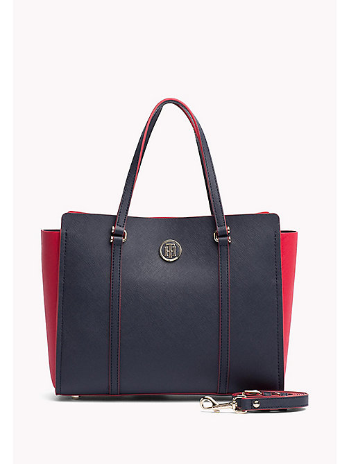 TOMMY HILFIGER Modern Tote Bag - TOMMY NAVY/ TOMMY RED - TOMMY HILFIGER NEW IN - main image