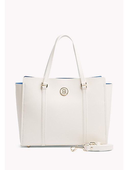 TOMMY HILFIGER Modern Tote Bag - BRIGHT WHITE/ REGATTA BLUE - TOMMY HILFIGER NEW IN - main image