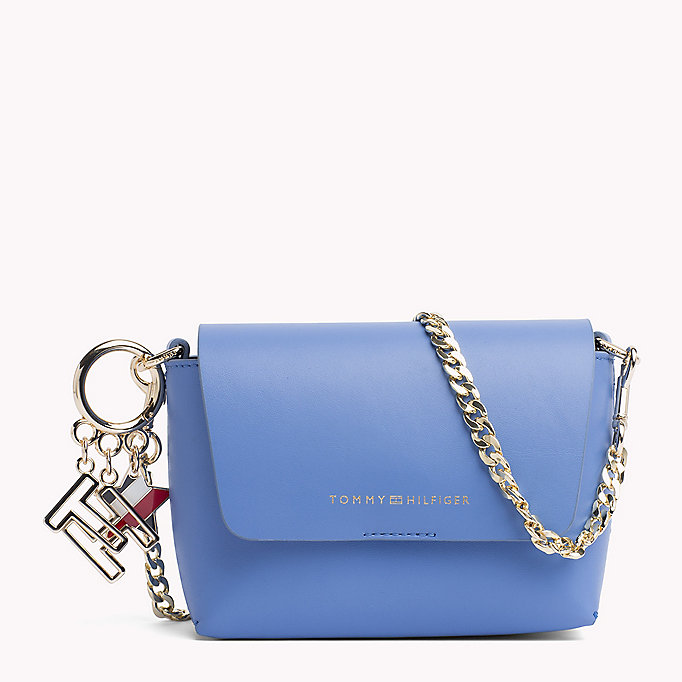 TOMMY HILFIGER Leather Cross Body Bag - TOMMY NAVY/ TOMMY RED - TOMMY HILFIGER Women - main image