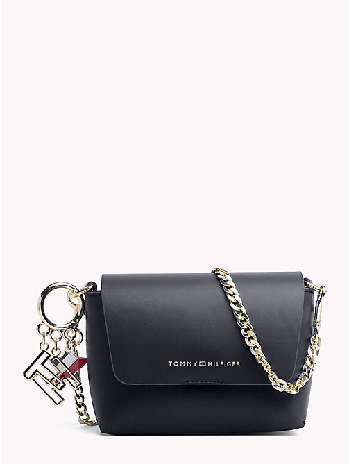 TOMMY HILFIGER Leather Cross Body Bag - TOMMY NAVY/ TOMMY RED - TOMMY HILFIGER Crossbody Bags - main image