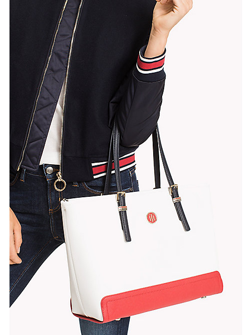 TOMMY HILFIGER Contrast Medium Tote - CORPORATE MIX - TOMMY HILFIGER Tote Bags - detail image 1