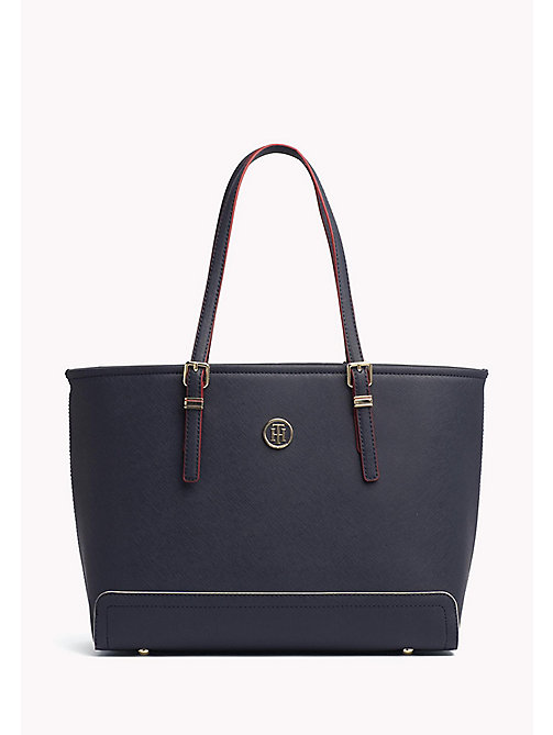 TOMMY HILFIGER Medium Tote - TOMMY NAVY / EDGE PAINT - TOMMY HILFIGER Totes Bags - main image