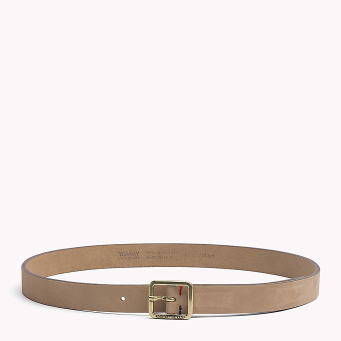 TOMMY JEANS Square Buckle Leather Belt - SEA MOSS - TOMMY JEANS Women - main image