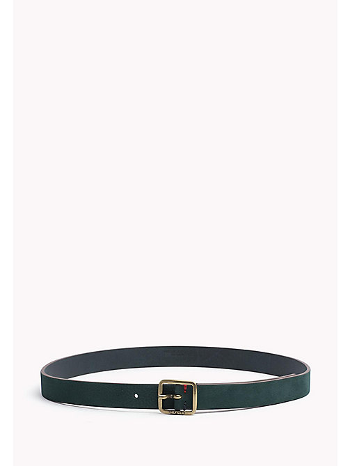 TOMMY JEANS Square Buckle Leather Belt - SEA MOSS - TOMMY JEANS Belts - main image