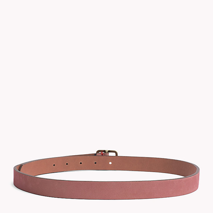 TOMMY JEANS Square Buckle Leather Belt - TOMMY NAVY - TOMMY JEANS Women - detail image 1