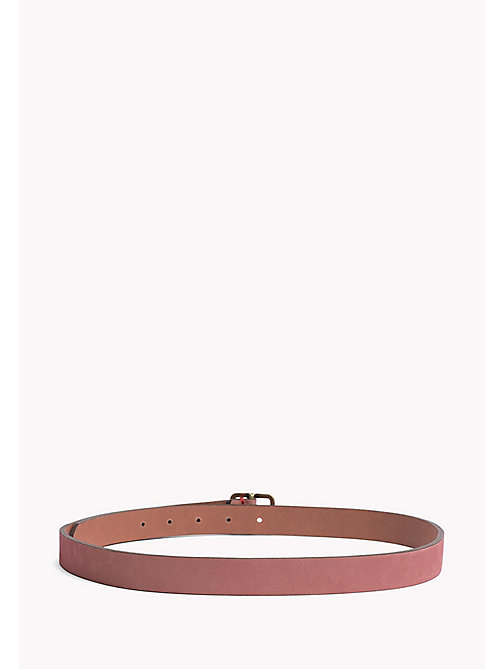 TOMMY JEANS Square Buckle Leather Belt - ORCHID PINK - TOMMY JEANS Belts - detail image 1