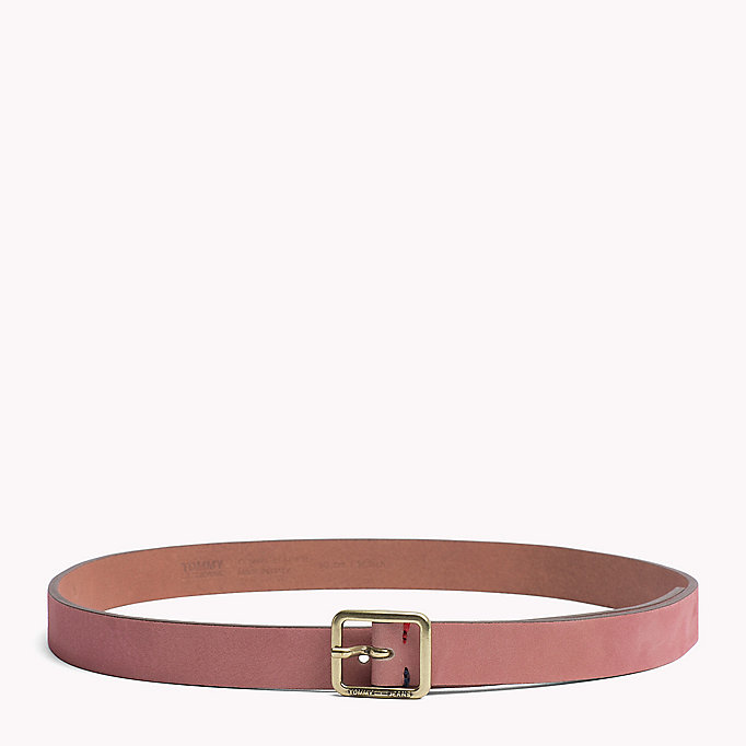 TOMMY JEANS Square Buckle Leather Belt - TOMMY NAVY - TOMMY JEANS Women - main image