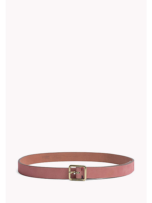 TOMMY JEANS Square Buckle Leather Belt - ORCHID PINK - TOMMY JEANS Belts - main image