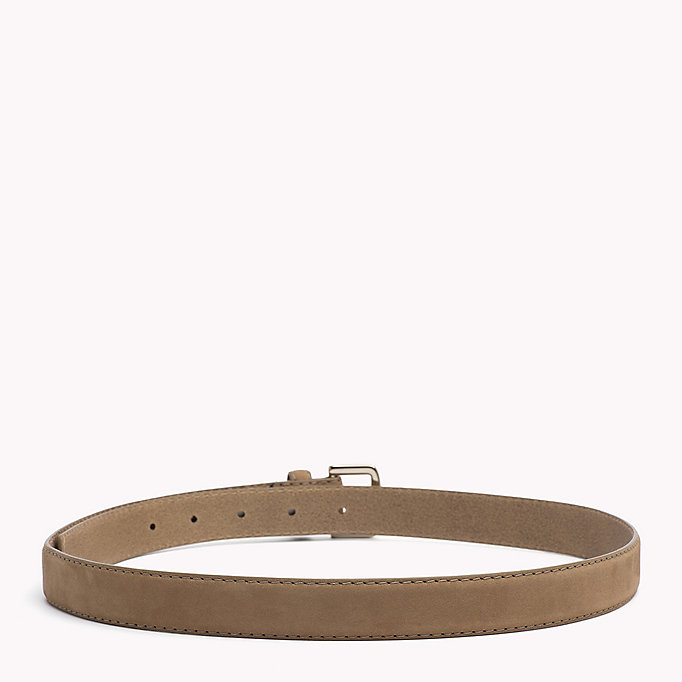 TOMMY HILFIGER Nubuck Leather Belt - TOMMY NAVY - TOMMY HILFIGER Women - detail image 1