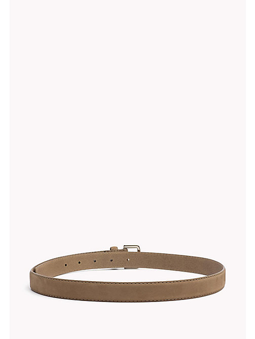 TOMMY HILFIGER Nubuck Leather Belt - TANNIN - TOMMY HILFIGER Belts - detail image 1