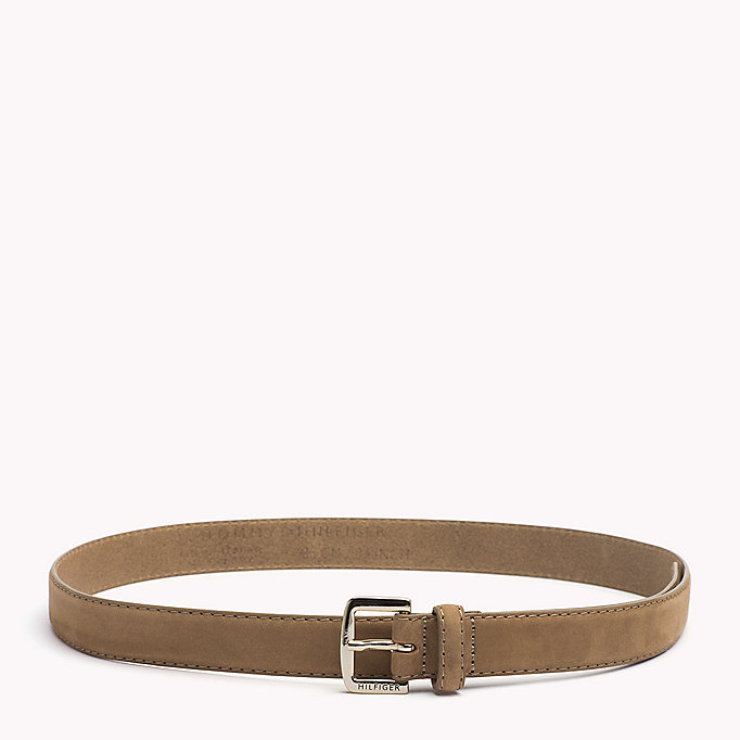 TOMMY HILFIGER Nubuck Leather Belt - TOMMY NAVY - TOMMY HILFIGER Women - main image