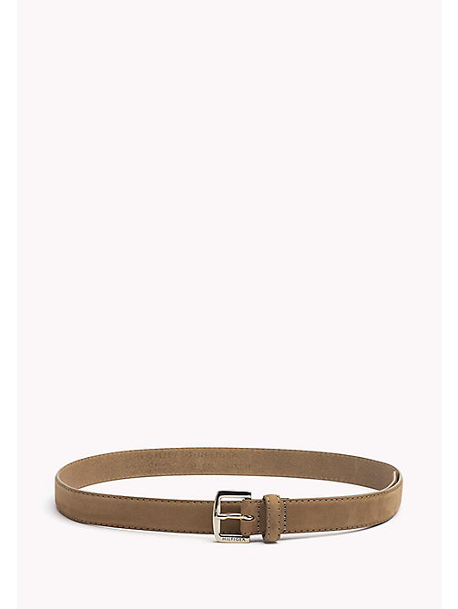 TOMMY HILFIGER Nubuck Leather Belt - TANNIN - TOMMY HILFIGER Belts - main image
